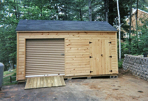 10' X 16' Shed with 7' Pine Walls
