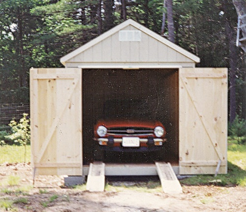10' X 20' Car Shed with 7' Walls and Pine Doors