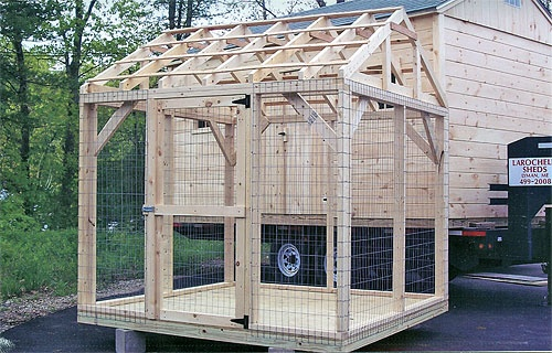 8' X 8' Dog Kennel with P-T Flooring